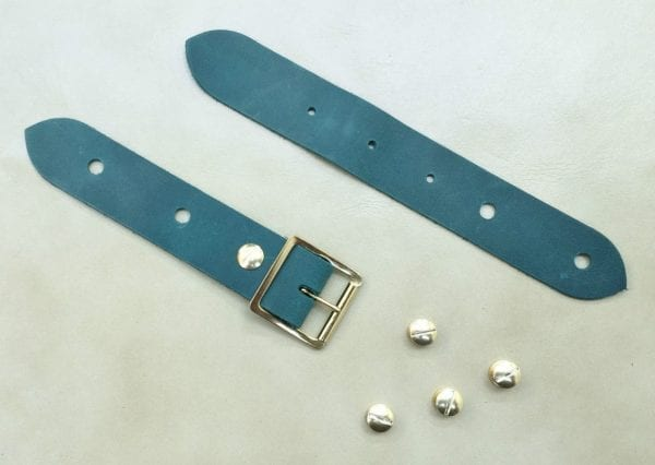 Leather buckle,bag and cuff strap sets