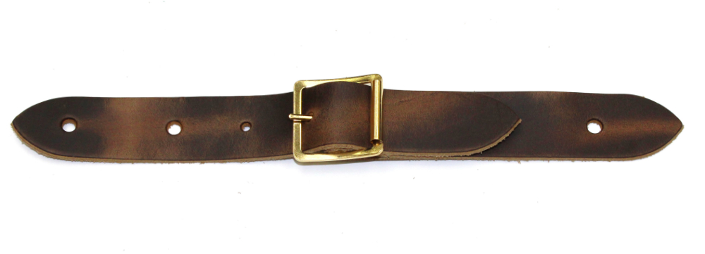 BROWN CROC EMBOSSED LEATHER BELT BLANK 3.5mm thick CHOOSE YOUR WIDTH