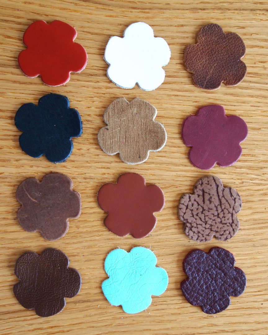 Leather die cut shapes ideal for general craft projects for Leather flowers for crafts