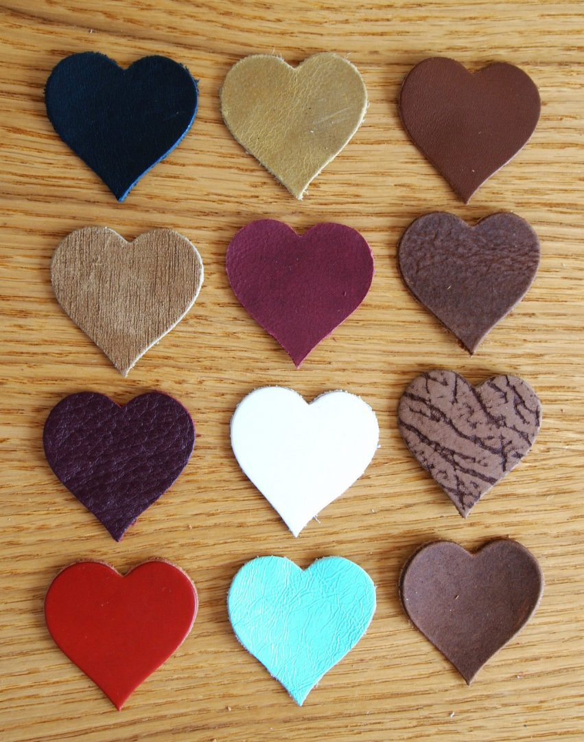 leather die cut shapes ideal for general craft projects