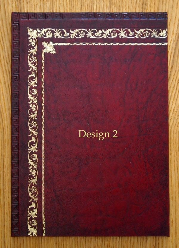 burgundy Design Leather Inserts