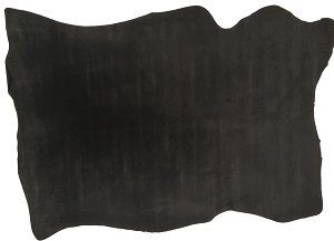 velour lining pig suede black leather4craft