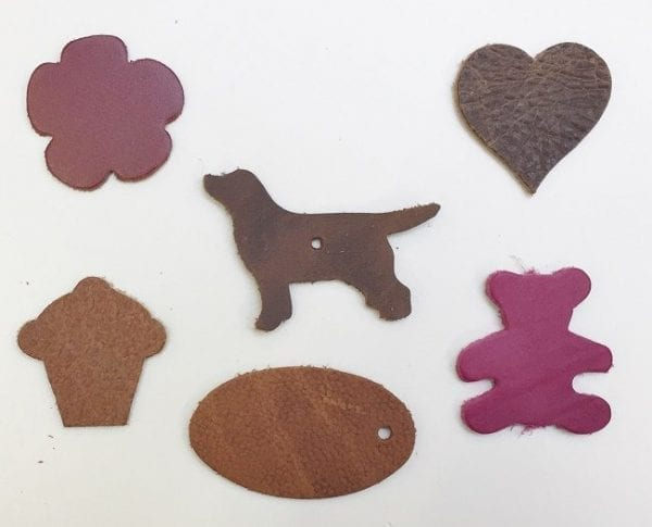 Leather die cut shapes leathercrafts