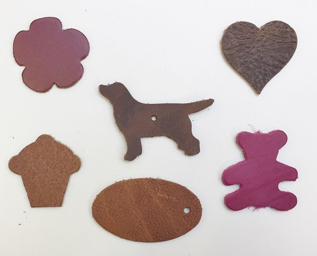 Leather off cuts mixed colours 1 kilo leather4craft for Leather shapes for crafts