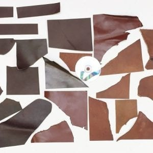 Leather off cuts 600 grams hobbicrafts