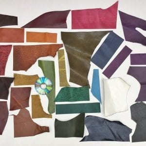 Leather off cuts mixed colours