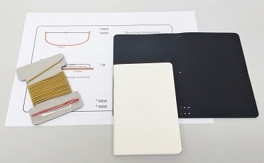 Knightsbridge Pure Veg-Tan Field notebook kit