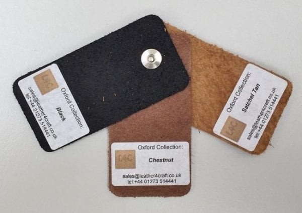 Oxford Leather samples pic backs