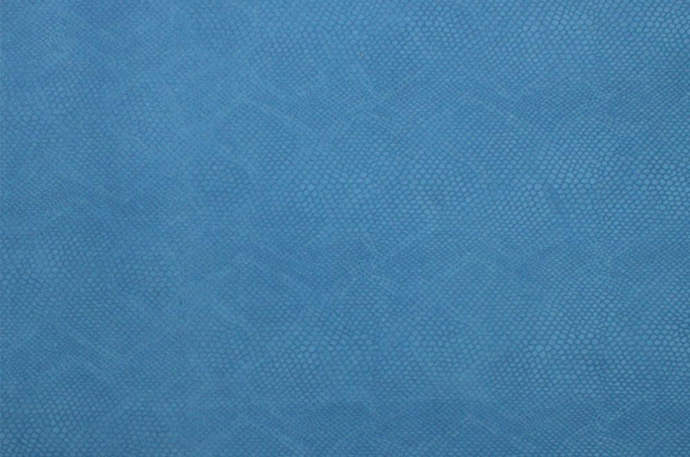 Python Embossed Panels Blue Leather4craft