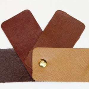 Cowhide Upholstery Pull-Up Leather Antique Tan  20 x 15 cm 1 mm thick Soft